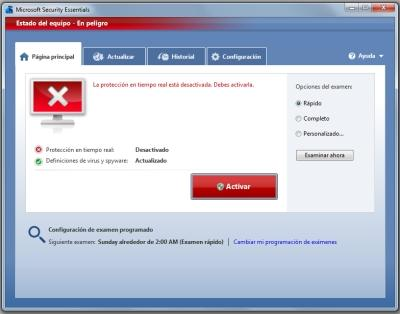 microsoft security essentials funcionamiento 2