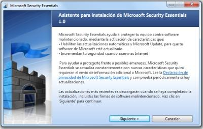 microsoft security essentials instalacion 1